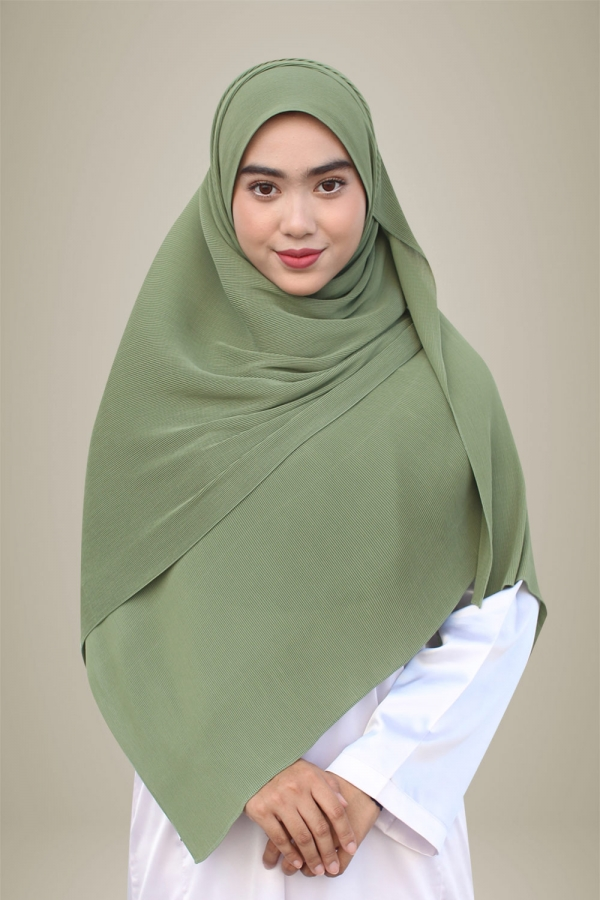 Hasna Pleated Plain - Bamboo