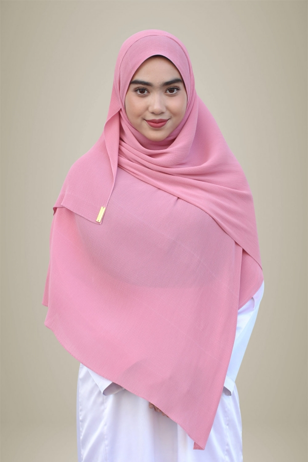 Hasna Pleated Plain - Barbie