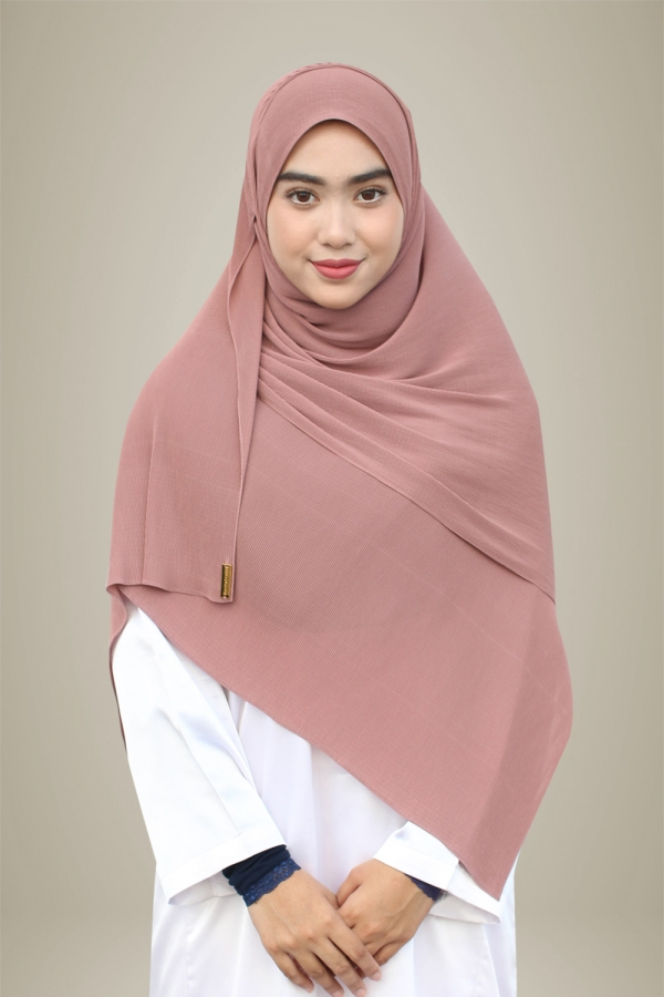 Hasna Pleated Plain - Bubblegum