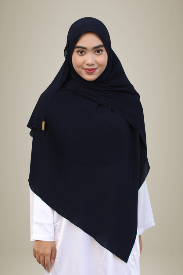 Hasna Pleated Plain -Inky