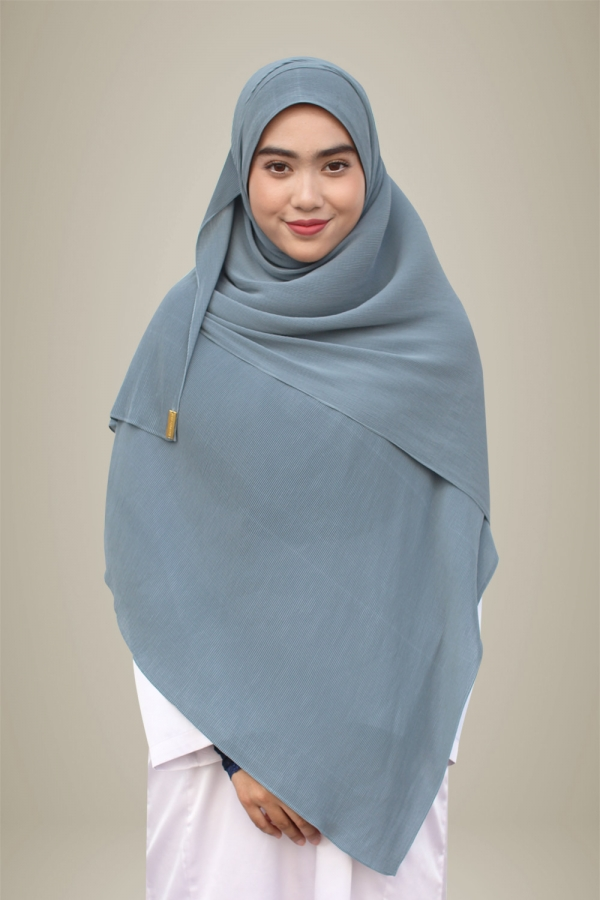 Hasna Pleated Plain - Sea