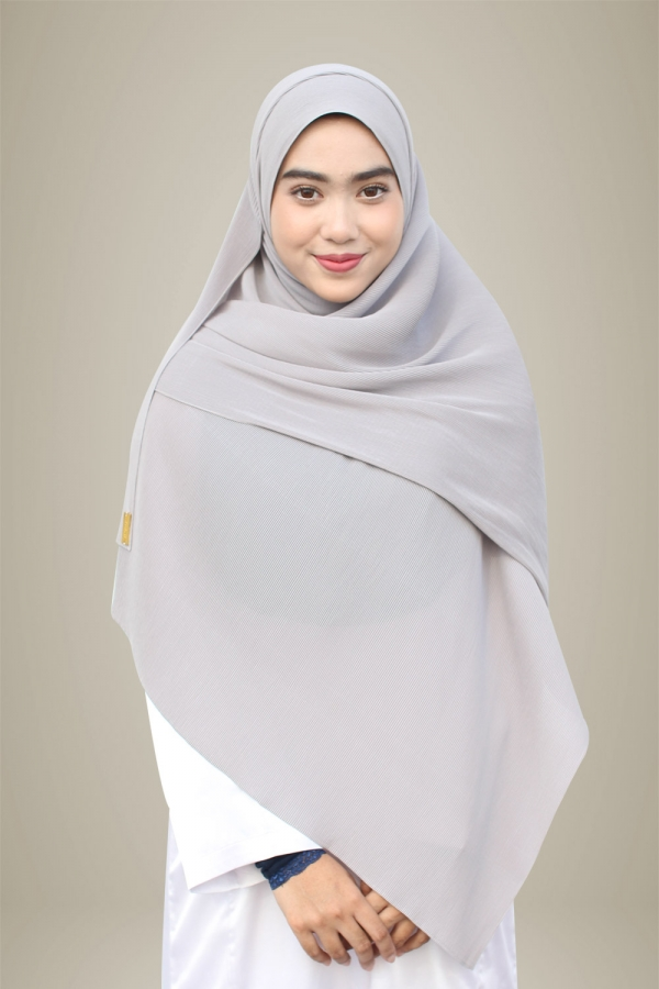 Hasna Pleated Plain - Stone